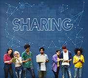 Sharing Communication Link Networking Connect Concept stock photography