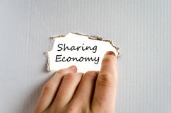 Sharing economy text concept Stock Photography