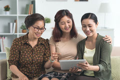 Sharing with family Stock Photo