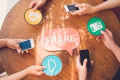 Sharing files Stock Photo