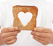 Sharing food with love royalty free stock photography