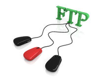 Sharing FTP. 3D rendered Illustration. FTP connection Stock Photography