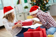 Sharing gift Stock Photos