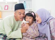 Sharing ice cream. Stock Photos