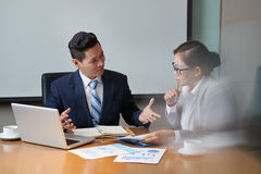 Sharing Ideas with Colleague Stock Image
