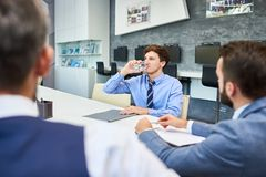 Sharing Ideas with Colleagues Stock Photo