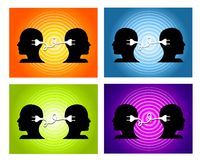 Sharing Ideas Teamwork Backgrounds Stock Image