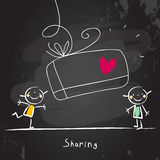 Sharing kids Stock Image