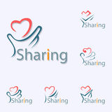 Sharing Logo. For organization about helping in social - vector vector illustration