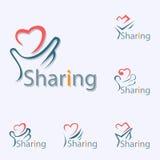 Sharing Logo Royalty Free Stock Photography