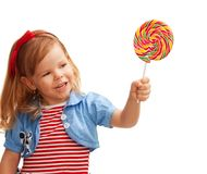 Sharing a lollipop Royalty Free Stock Image