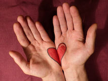 Sharing love with open hands Stock Images
