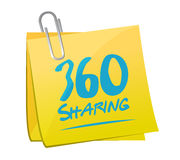 360 sharing memo post illustration Stock Image
