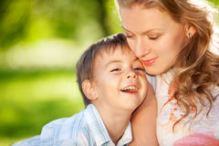 Sharing a moment Royalty Free Stock Images