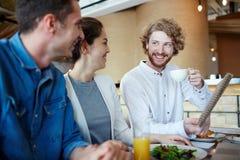 Sharing new ideas Stock Photos