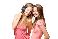 Sharing our tune. Royalty Free Stock Image
