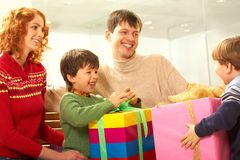 Sharing presents Stock Image
