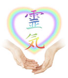 Sharing Reiki healing Stock Photos