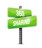 360 sharing road sign illustration design Stock Images