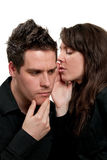 Sharing secrets Royalty Free Stock Images