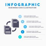 Sharing, share, file, document, copying Infographics Template for Website and Presentation. GLyph Gray icon with Blue infographic. Style vector illustration vector illustration