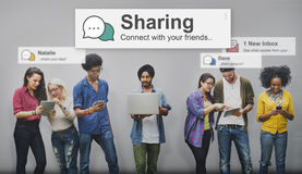 Sharing Share Social Networking Connection Communication Concept Stock Image