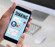 Sharing (Sharing Share Social Networking Connection Communicatio Stock Photography