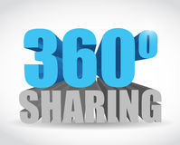 360 sharing sign illustration design. Over a white background Stock Images