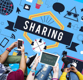 Sharing Social Media Technology Innovation Concept Stock Images