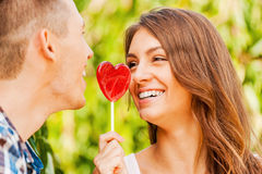 Sharing sweet love. Stock Images