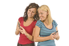 Sharing Text Messages Revised Royalty Free Stock Image