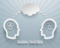 Sharing Together Background Illustration Stock Photos