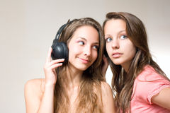 Sharing the tune. Stock Images