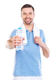 Sharing water with you. Royalty Free Stock Photo