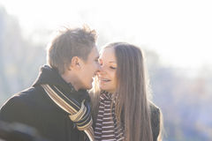 Sharing your beautiful smile with a friend Royalty Free Stock Images