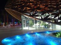 Sharja beleuchten zentrales Gebäude des Festivals in Noor-Insel Lizenzfreies Stockbild