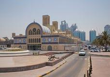 SHARJA, UAE - 16 DE MAYO DE 2016: Souk azul Imagen de archivo