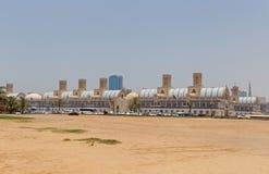 SHARJA, UAE - 16 DE MAYO DE 2016: Souk azul fotos de archivo libres de regalías