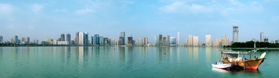 Sharjah. Panoramic view of sharjah Stock Image