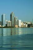 Sharjah Al Buhairah Corniche Royaltyfria Bilder
