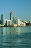 Sharjah Al Buhairah Corniche. Al Buhairah Corniche is one of the posh locations in Sharjah, one of the Emirates of United Arab Emirates Royalty Free Stock Images