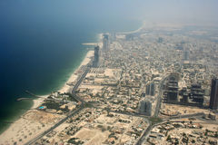 Sharjah areal view. Areal view of Gulf Sharjah region Stock Image