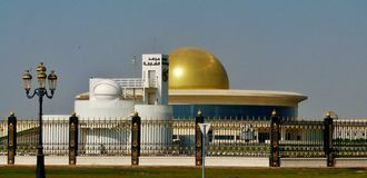 Sharjah Astronomy Observatory and its telescope Royalty Free Stock Photo