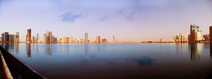 Sharjah bij de kreek Stock Foto's