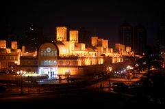 Sharjah Central Souk. Night view Stock Photo
