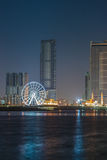 Sharjah city night skyline Royalty Free Stock Photos