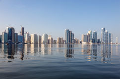 Sharjah City skyline Stock Photo