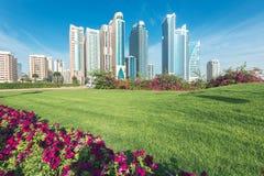 Sharjah cityscape förenade arabiska emirates royaltyfri foto