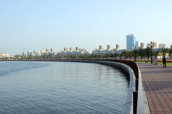 Sharjah Corniche. Early morning at Sharjah corniche, UAE Royalty Free Stock Image