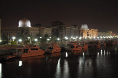 Sharjah Creek at night Royalty Free Stock Photo